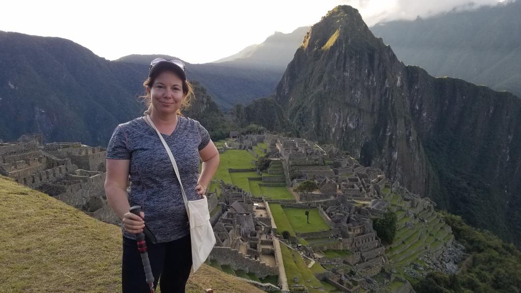 Standing at Machu Picchu